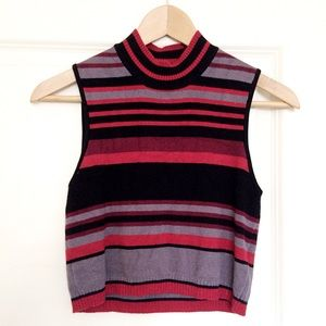 Urban Outfitters mock neck striped crop top small